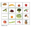 vegetables bingo